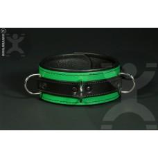Classic Deluxe Bondage Collar in Green