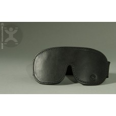 Padded Leather Blindfold with Luxury Fur Lining