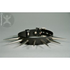 Extra Long Round Spiked Fetish Collar