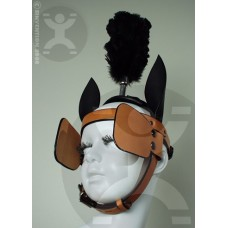 """Straight 1"""" Brow Pony Bridle with Blinders"""