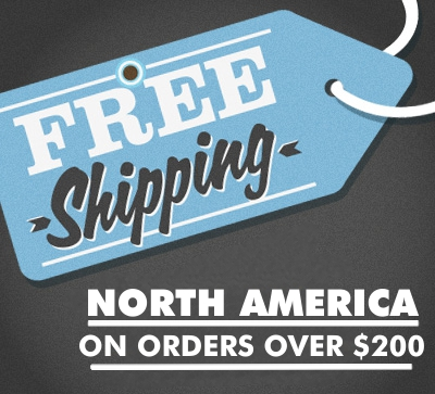 free shipping north america